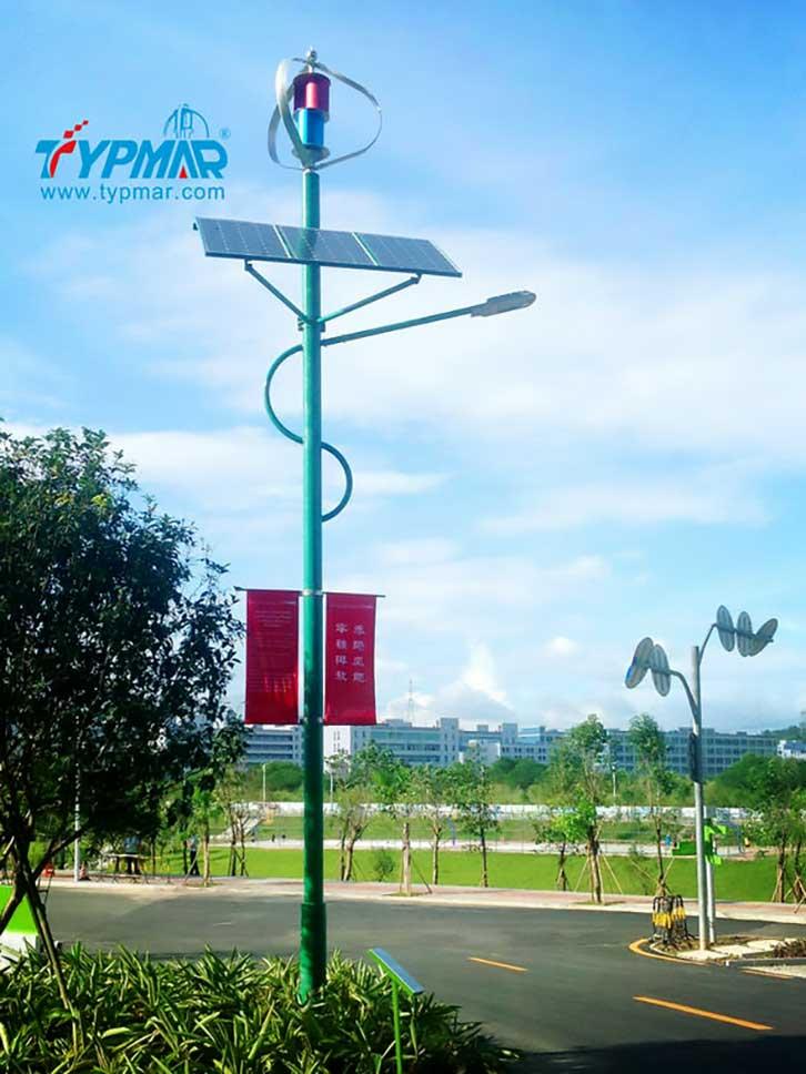 深圳市龙岗区低碳城风光互补路灯案例