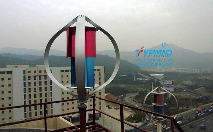 泰玛科技深圳总部大楼 磁悬浮风力发电机3000W
