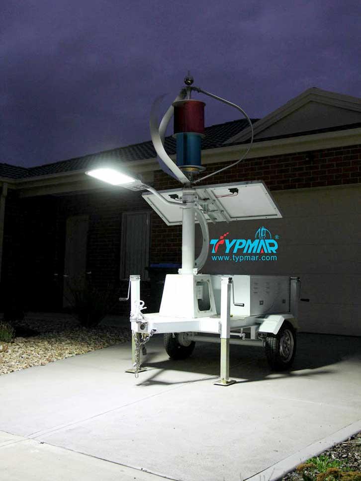 澳大利亚移动风光互补系统 夜景