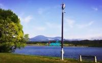 斯洛文尼亚风光互补路灯工程 湖边
