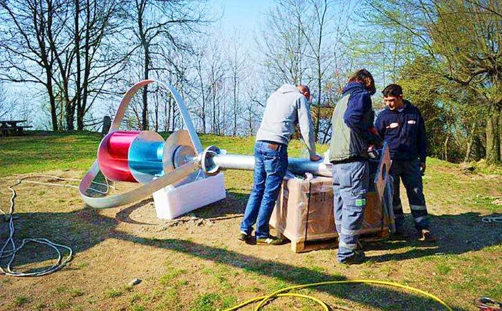 意大利通讯设备风力供电系统安装