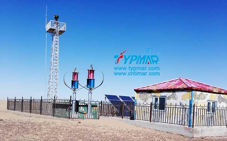 内蒙古二林浩特风光互补监控 磁悬浮风力发电机