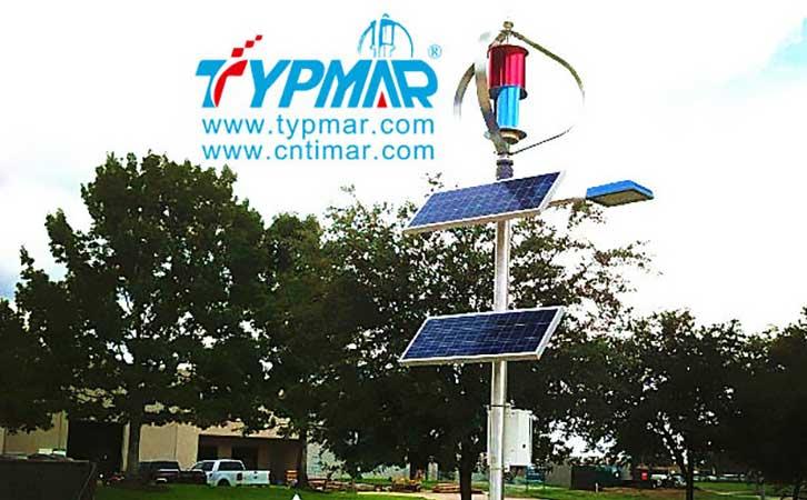 美国风光互补路灯工程