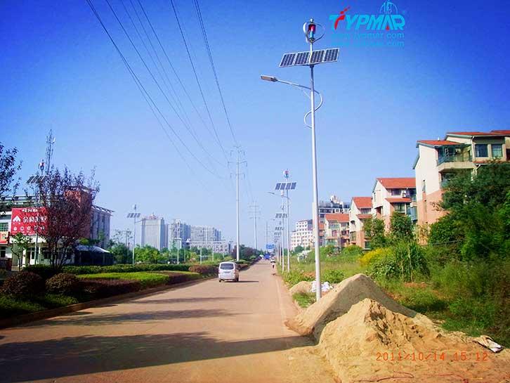 湖南长沙风光互补路灯工程 风力发电机300W